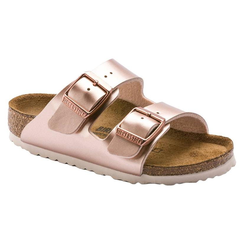 Birkenstock Kid's Arizona Metallic Copper Sandal