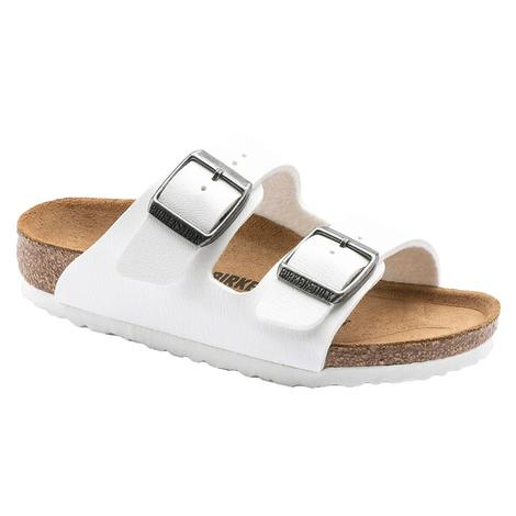 Birkenstock Kid's Arizona White Sandal