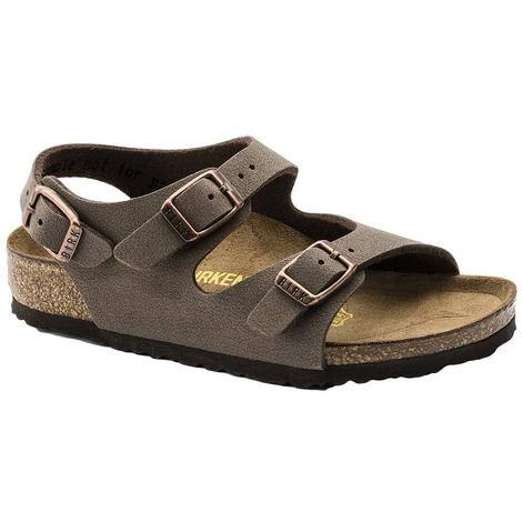 Birkenstock Kid's Roma Mocha Ankle Strap Sandals