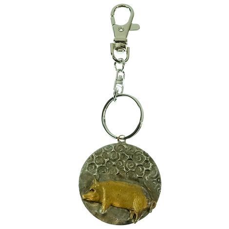 Keychain Round Pig