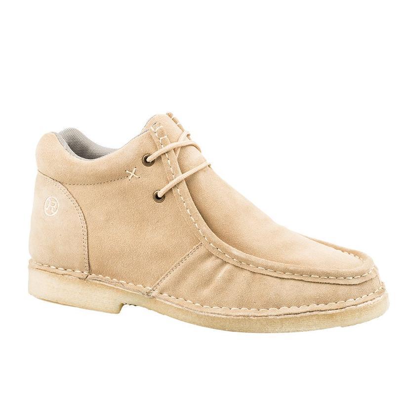 Roper Tan Suede Gum Sticker Crepe Sole Men's Shoes