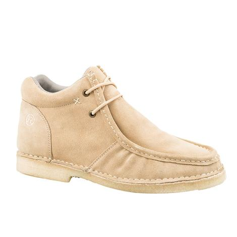 Roper Tan Suede Gum Sticker Crepe Sole Men's Shoes