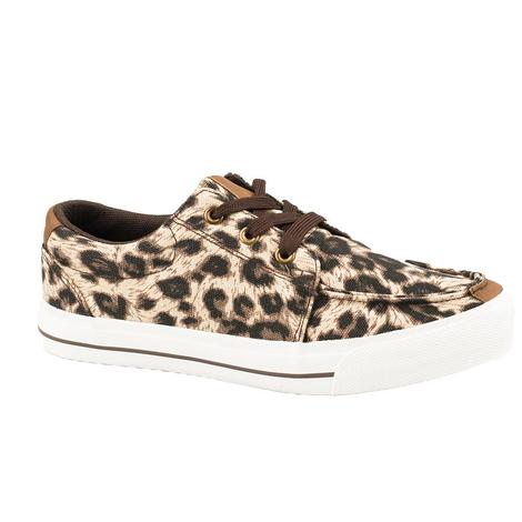 Roper Cheetah Print Lace Up Women's Shoes