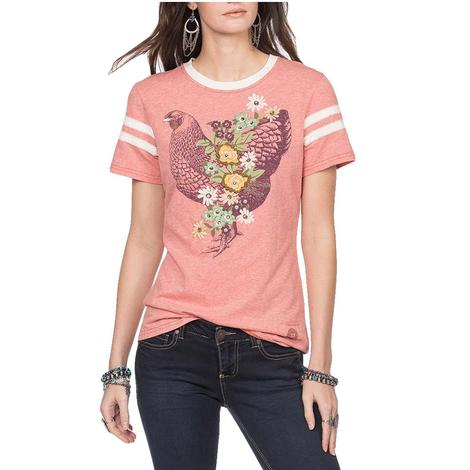 Double D Ranch Pink Kiss Rise and Shine Women's Tee