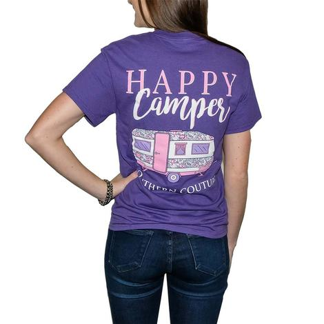 Happy Camper Tee - Lilac