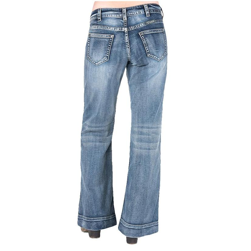 Cowgirl Tuff Just Tuff Breathe Wide Leg Womens Jeans