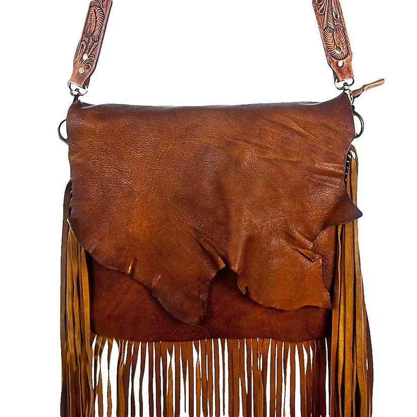 American Darling Leather Bag With Fringe