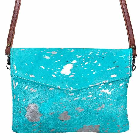 American Darling Bags Turquoise Acid Wash Cross Body