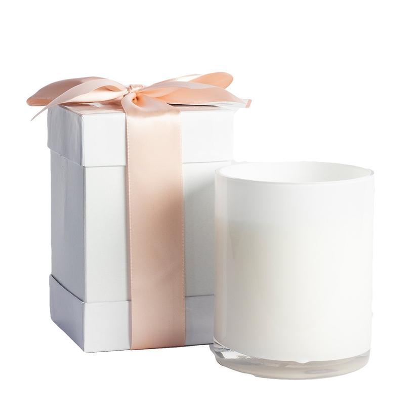 B's Knees 2 Wick Fresh Eliza White Glass Candle