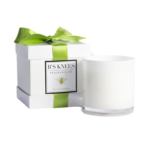 B'S Bamboo 3 Wick Fresh Bamboo White Candle
