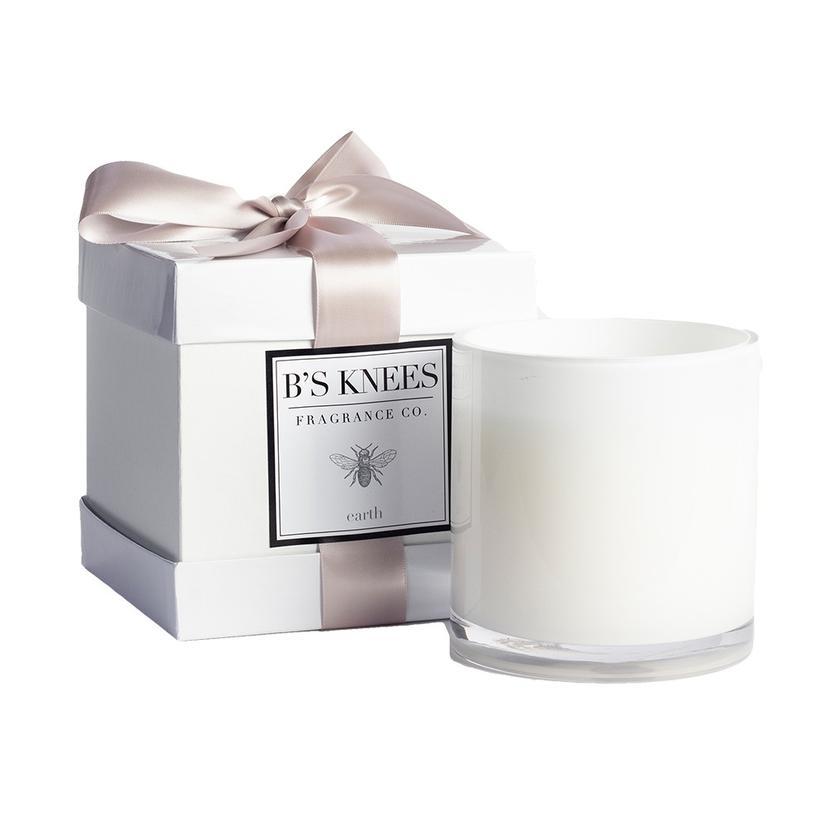 B's Knees 3 Wick Fresh Earth White Candle