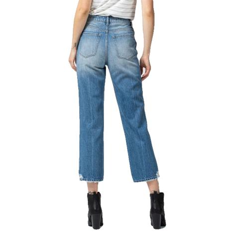 Vervet Super High Rise Straight Leg Jean