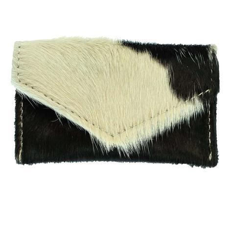 American Darling Bags Black and White Hide Wallet