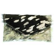 American Darling Bags Black White Silver Acid Wash Hide Wallet