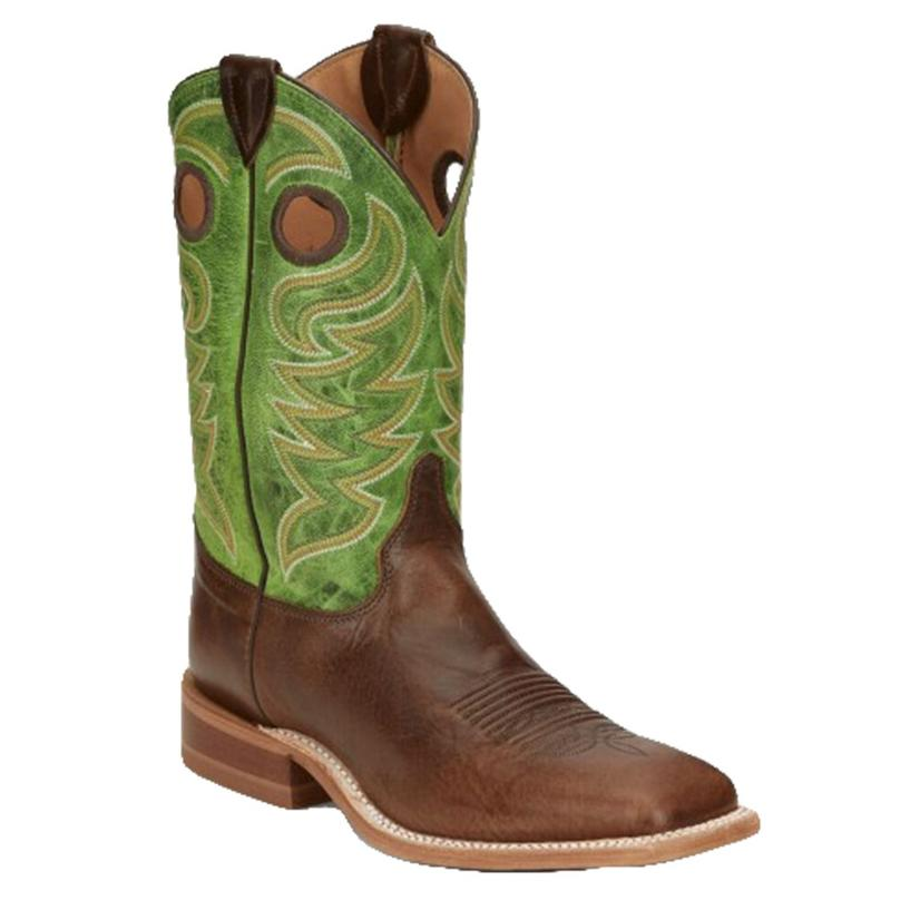 Bent Rail Clinton Taupe Green Top Men's Boots