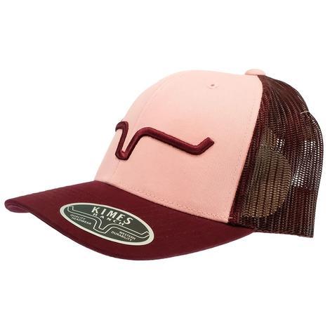 Kimes Ranch Burgundy Pink Meshback Cap