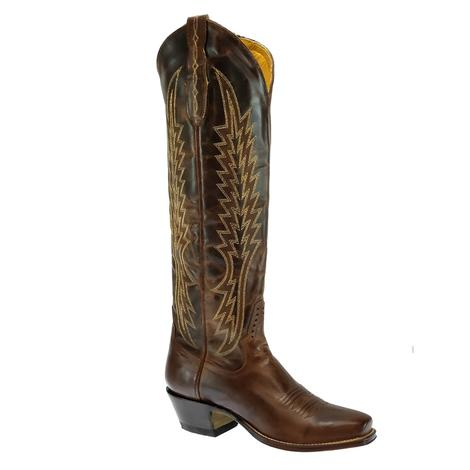 Rod Patrick Tall Brown 15inch Zip Up Women's Boots