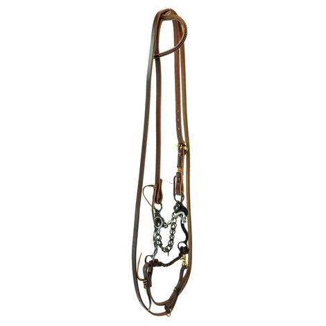 STT Roping Bridal Set with Wide Chain Port