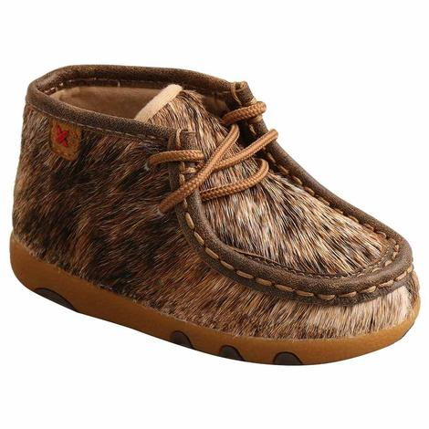 Twisted X Brindle Cowhide Infant Driving Mocs