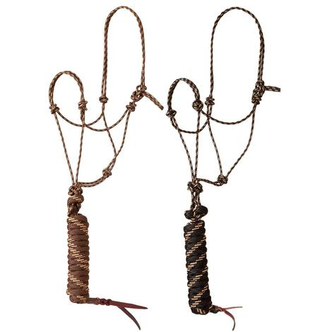 Mustang Premium Rope Halter with Lead