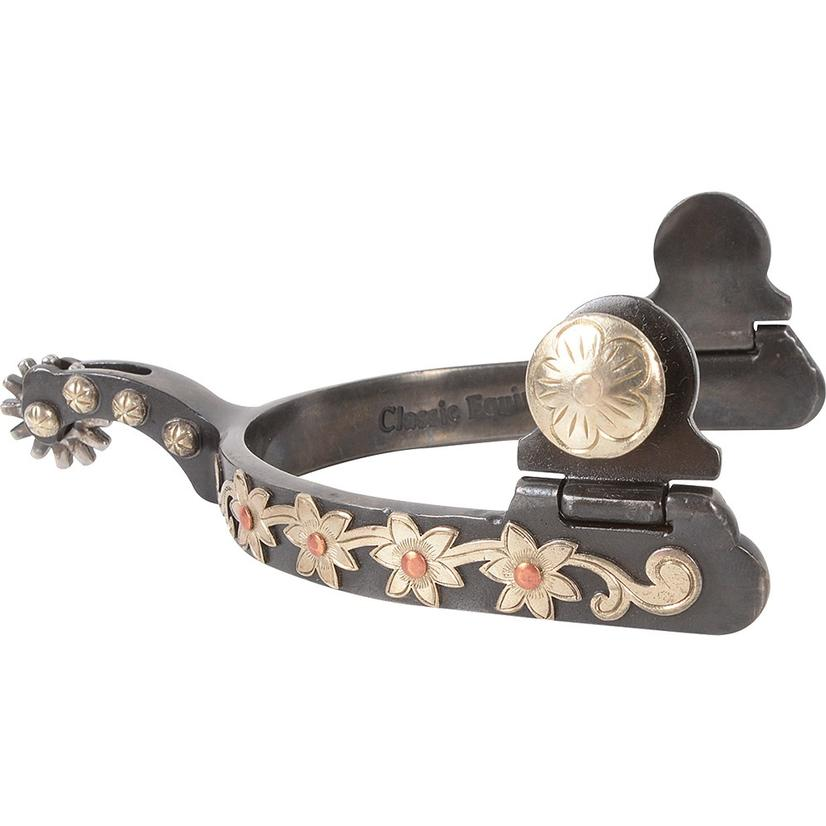 Classic Equine Floral Antiqued Spurs Half Inch Band