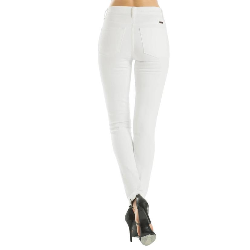 Kancan White Skinny Jeans For Women
