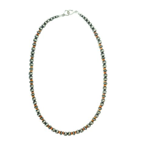 Navajo Pearl and Coral Necklace 20