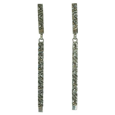 Long Drop Sterling Silver Earrings