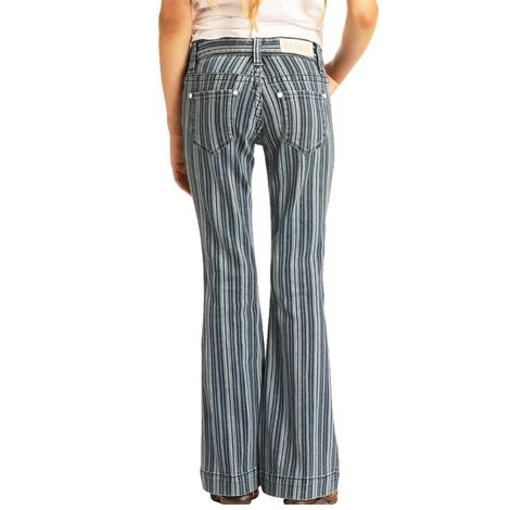 Rock and Roll Cowgirl Stripe Trouser Jeans