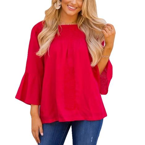 Reina Long Sleeve Top with Embroidery