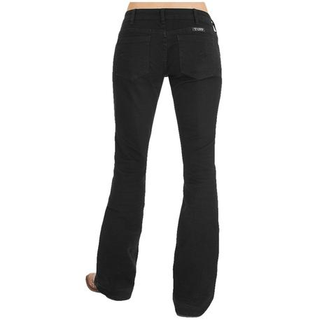 Cowgirl Tuff Women's Black Trouser Jeans