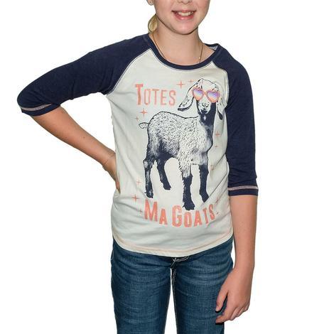 Cruel Girl Baseball Girl's Tee Totes Ma Goats