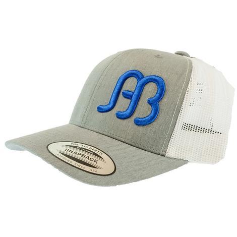 Anderson Bean Gray White Blue Logo Meshback Cap
