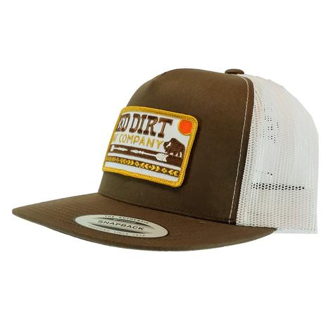 Red Dirt Hat Co Arrows Brown and White Meshback Cap
