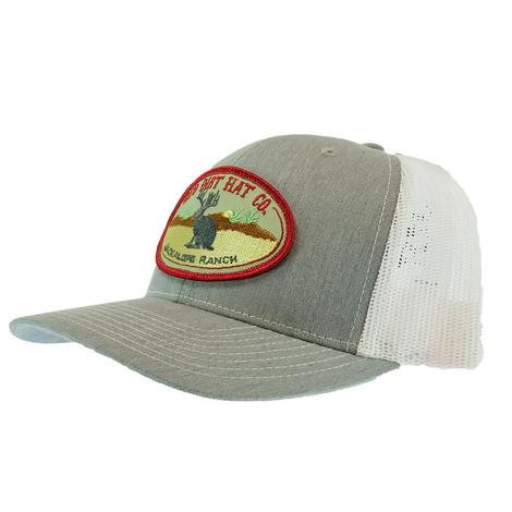 Red Dirt Hat Co Jackalope Heather Grey and White Meshback Cap