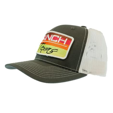 Red Dirt Hat Co Ranch Texas Amigo Charcoal and White Meshback Cap
