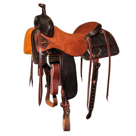 STT Ranch Cutter Half Chocolate Windmill Tool Half Chestnut Roughout Saddle