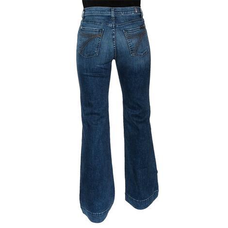 7 For All Mankind Modern Dojo Blue Monday Trouser Jeans