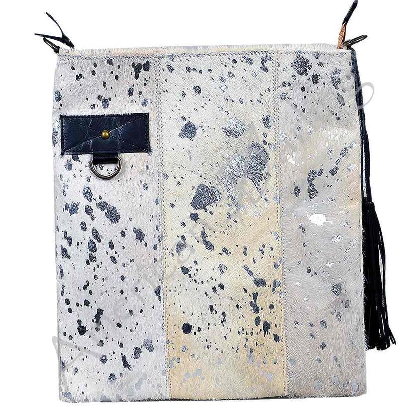 American Darling Bags White Silver Hide Crossbody Bag