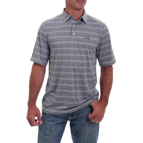 Cinch Grey Stripe Short Sleeve Men's Polo Shirt