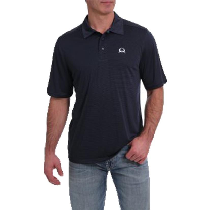 Cinch Plus Navy Stripe Men's Polo Shirt