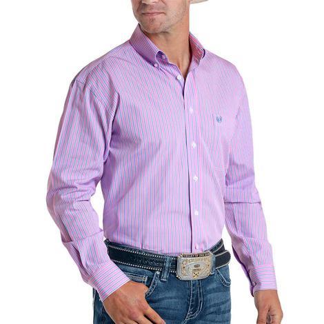 Panhandle Pink Pinstripe Long Sleeve Buttondown Men's Shirt