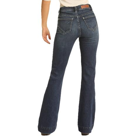 Rock and Roll Cowgirl Medium Wash High Rise Women's Trouser