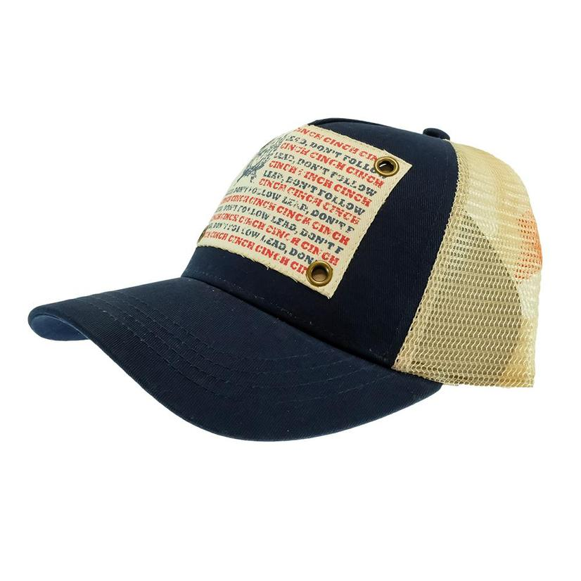 Cinch Navy Lead Don ' T Follow Meshback Cap