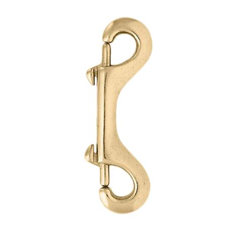 Brass Plated Double End Snap 4 1/2