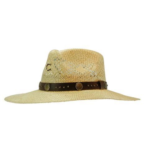Charlie 1 Horse Hair Trigger Leather Trim Straw Hat