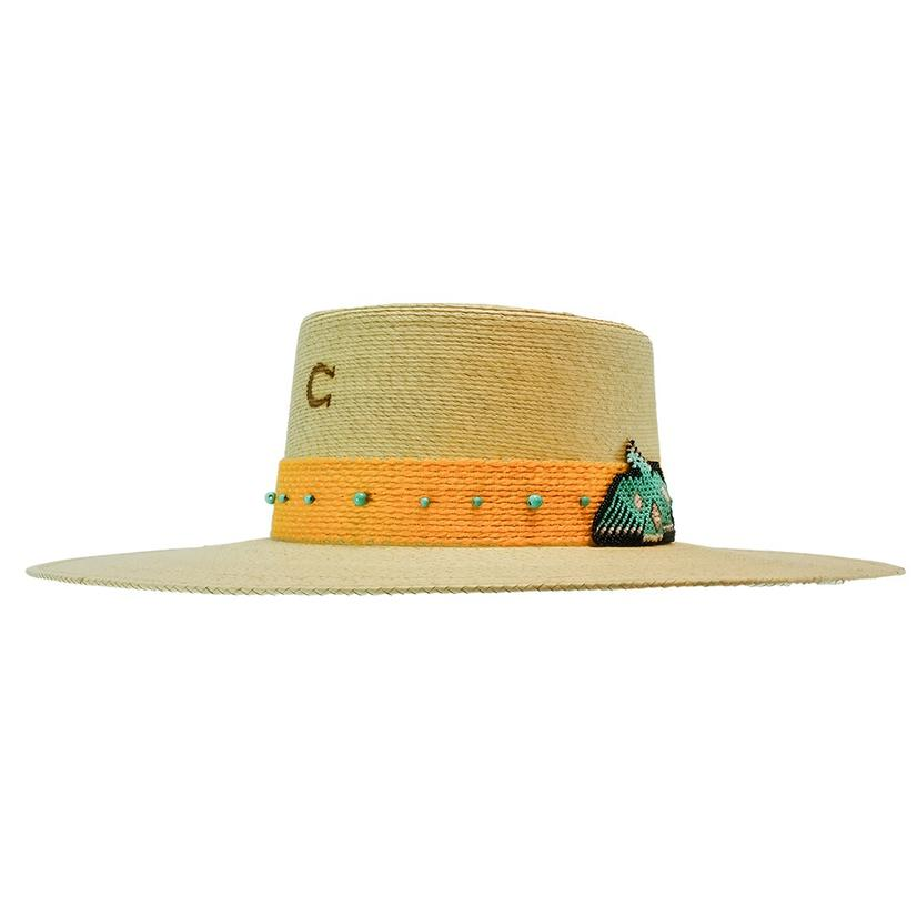 Charlie 1 Horse War Eagle Yellow Band Straw Hat