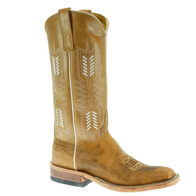 Anderson Bean Beige Mad Dog Kidskin Stitched Women's Boots