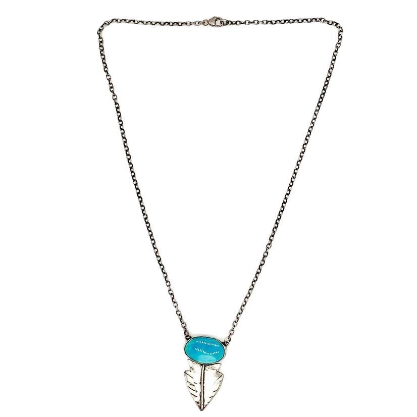 Love Tokens Turquoise Arrowhead Choker Necklace