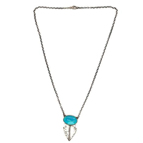 Love Tokens Turquoise Arrowhead Choker Necklace